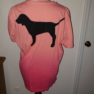 PINK OMBRE CAMPUS TEE
